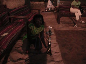 First time to see Sheesha -had to take a snap with it