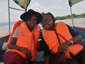 Girls just want to have some fun-Boat ride on Lake Victoria